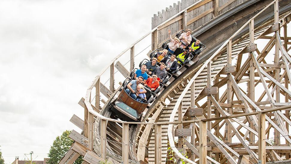 Rollercoaster in plopsaland