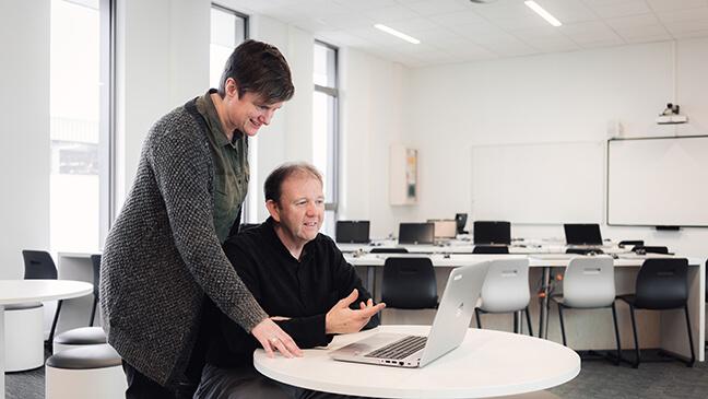 digitale zorgleraren Bert van Leemputte en Hild Dekoninck
