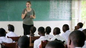 leraar in congo voor de klas