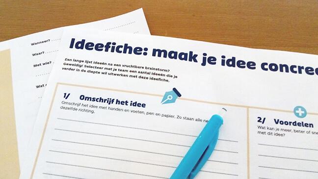 brainstorm tool ideeënfiche