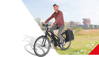 man op fiets van belgocycle