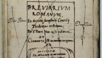 bladzijde uit boek uit barok