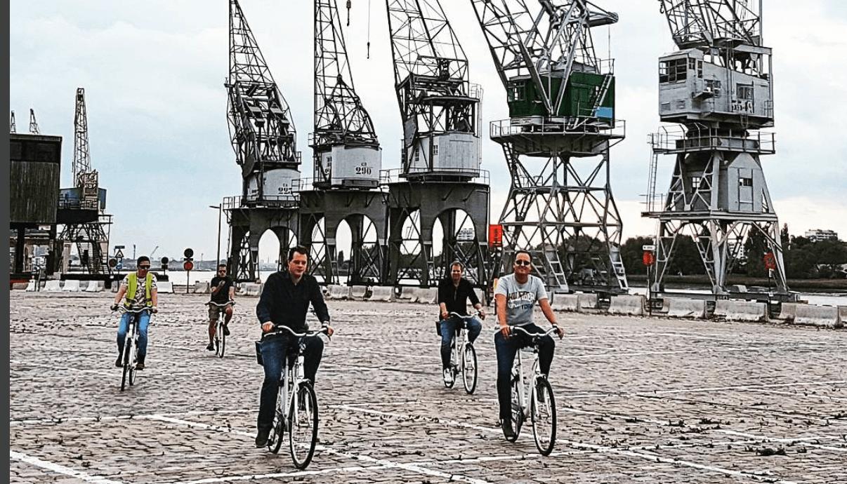 fietsers in Antwerpen