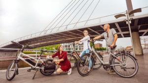 3 vrienden met belgocycle fiets