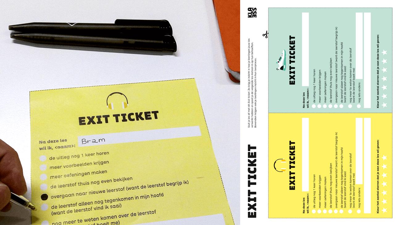 inzicht in het leerproces van je leerlingen: Exit ticket voor het secundair onderwijs