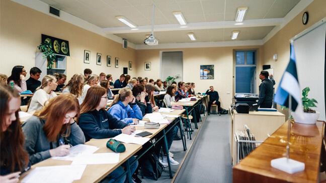 Een klas in Estland