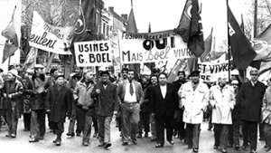 betoging tegen de fabrieken van 'Boël
