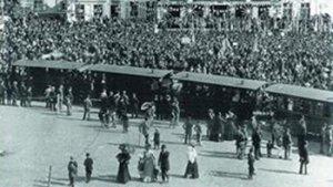 beeld uit de expo oude tramlijnen van het hageland