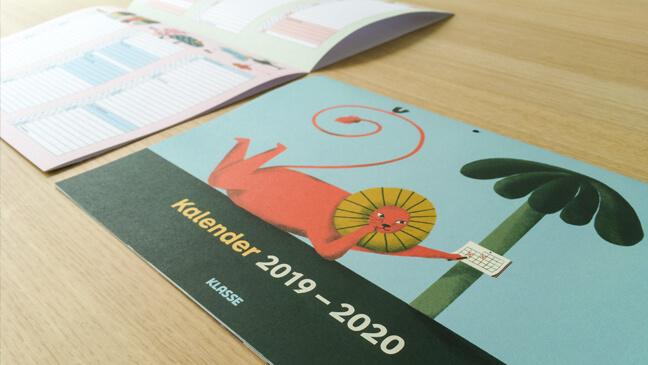 Klasse maand- en jaarkalender 2019-2020
