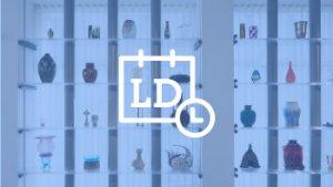voorstelling verschillende design objecten op een rek