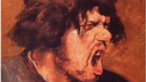 gezicht van schreeuwende man