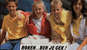 oude affiche over roken