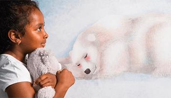 meisje met teddybeer