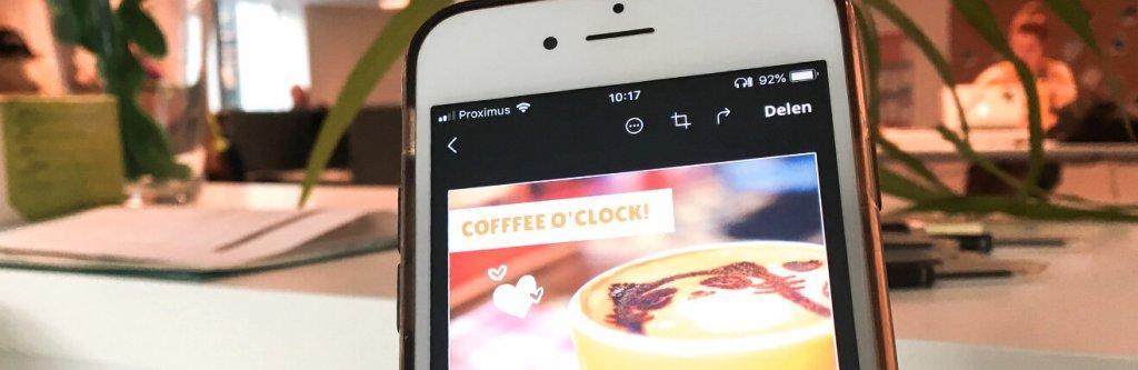 Smartphone met Canva app
