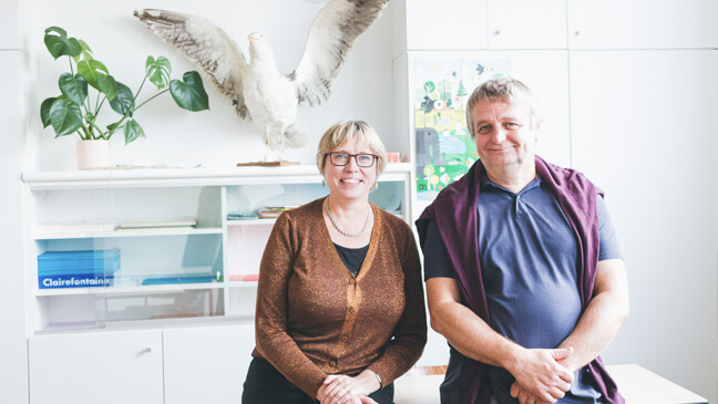 Peter en Rita van scholengroep Ichthus in Oostende.