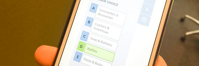 Smartphone met Socrative app