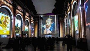 beeld uit de expo 'Van Gogh'