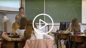 Jonas Juchtmans, leraar wiskunde voor de klas