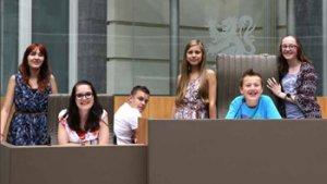 Leerlingen in het Vlaams Parlement