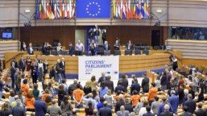 grote vergaderzaal van het Europees Parlement