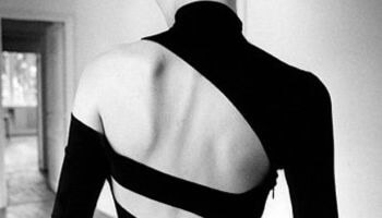rugkant van een jurk