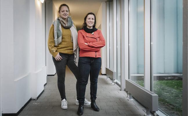 Sarah Clauwers, directeur lagere school De Twijg, Wijgmaal en Leen Damman, ondersteuningsnetwerk Oost-Brabant