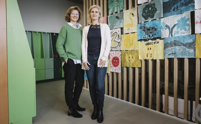Ann Mulders, leraar lagere school De Kinderberg, Bierbeek en Riet Boedt, ondersteuningsnetwerk Oost-Brabant