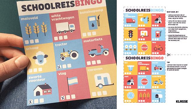 Super Schoolreisbingo: spel voor onderweg – Klasse &UW44