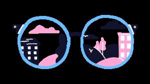 illustratie van een bril