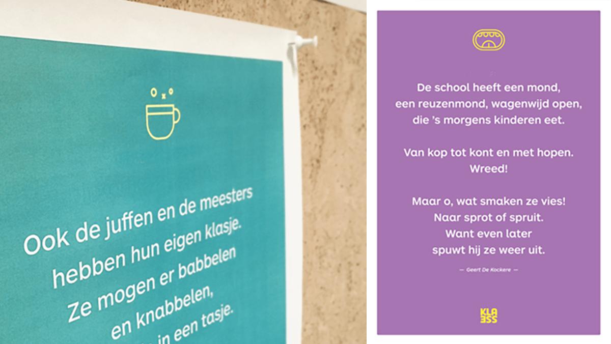 Posters met gedichten voor op school