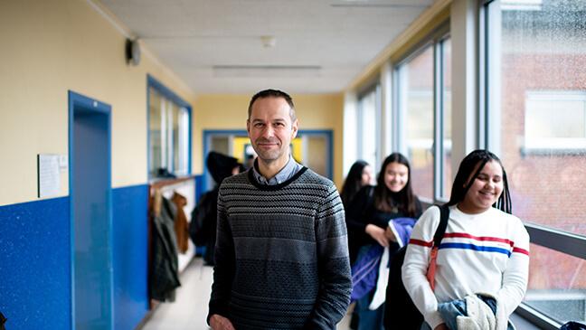 directeur Filip Van den Wyngaert van het Sint-Norbertusinstituut in Duffel