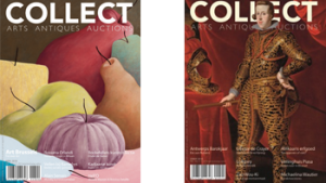 2 covers van het magazine 'collect'