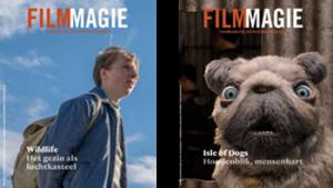 2 covers van het magazine 'filmmagie'