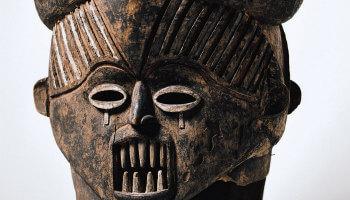 foto van een etnisch masker