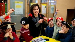 Leerlingen met juf Siska in Op bezoek in museum Texture