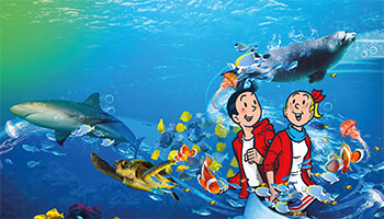 Campagnebeeld Suske en Wiske in Sea Life