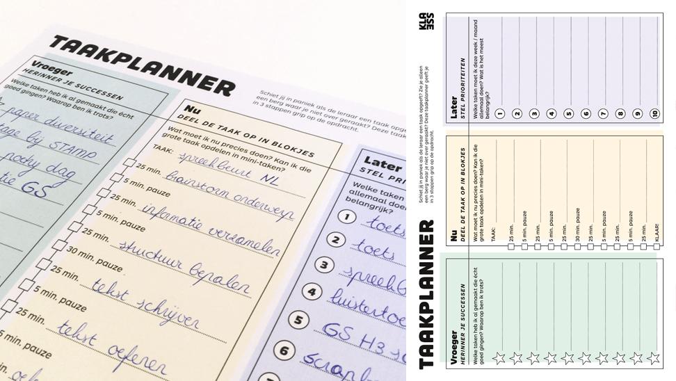Klik en Print Taakplanner