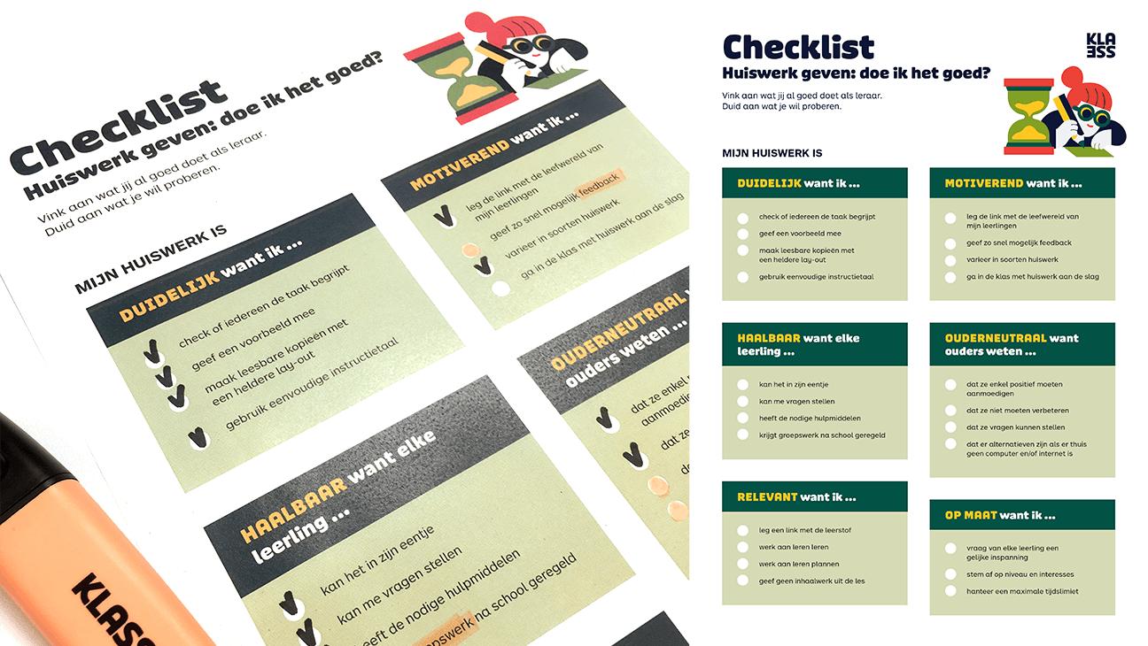Huiswerk checklist