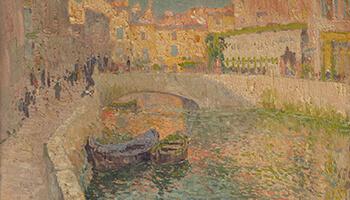 Schilderij Petit canal à Venise