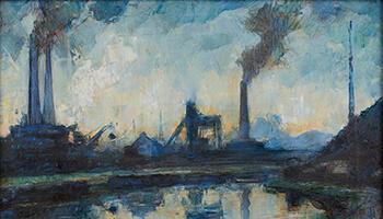 schilderij van Pierre Paulus: La Sambre
