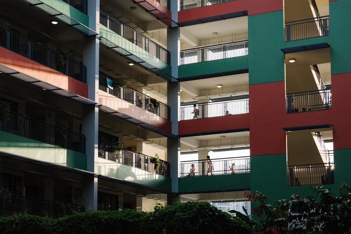 Elk leerjaar heeft een eigen verdieping.