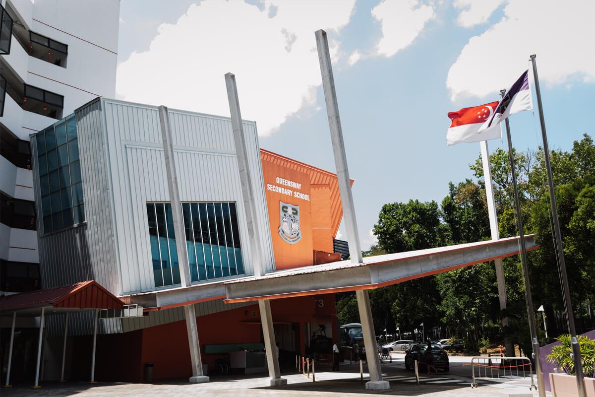 Queensway zag het licht in de jaren '60, vlak voor Singapore onafhankelijk werd.