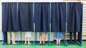 Stembureau tijdens de verkiezingen