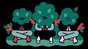 Illustratie over groen op de speelplaats
