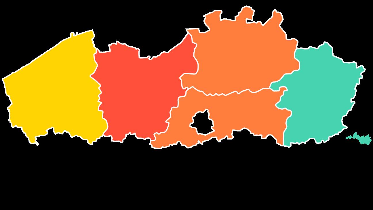 infografiek: lerarentekort is het grootst in de provincies Oost-Vlaanderen, Antwerpen en Vlaams-Brabant
