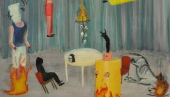 Schilderij van David Dodukalo