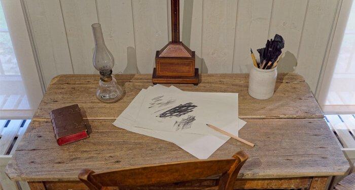 Oude schrijftafel in het Huis Van Gogh