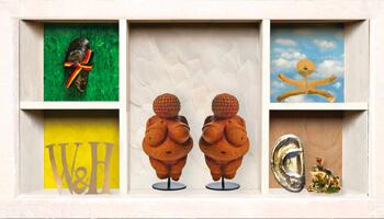 kunstwerken uit de expo 'wonderkamer'