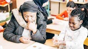 Mama neemt deel aan het project 'Welkom in de klas' van Brusselleer