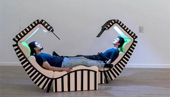 design-ligzetel voor 2 personen